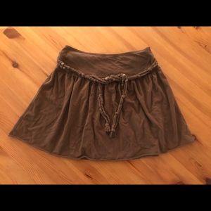 Hollister brown skirt